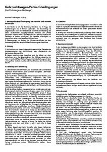 AGB Gebrauchtwagen-verkaufsbedingungen ZDK